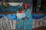 Gift to the oldest lady of the congress mama akoumba 96 years thumb