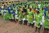 6599 a cross section of students of adventist secondary technical college owerrinta abia state waving standing for prayers